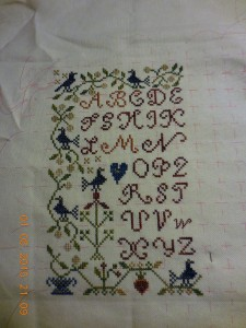 Part 1 Blackbird Designs Mystery Sampler.