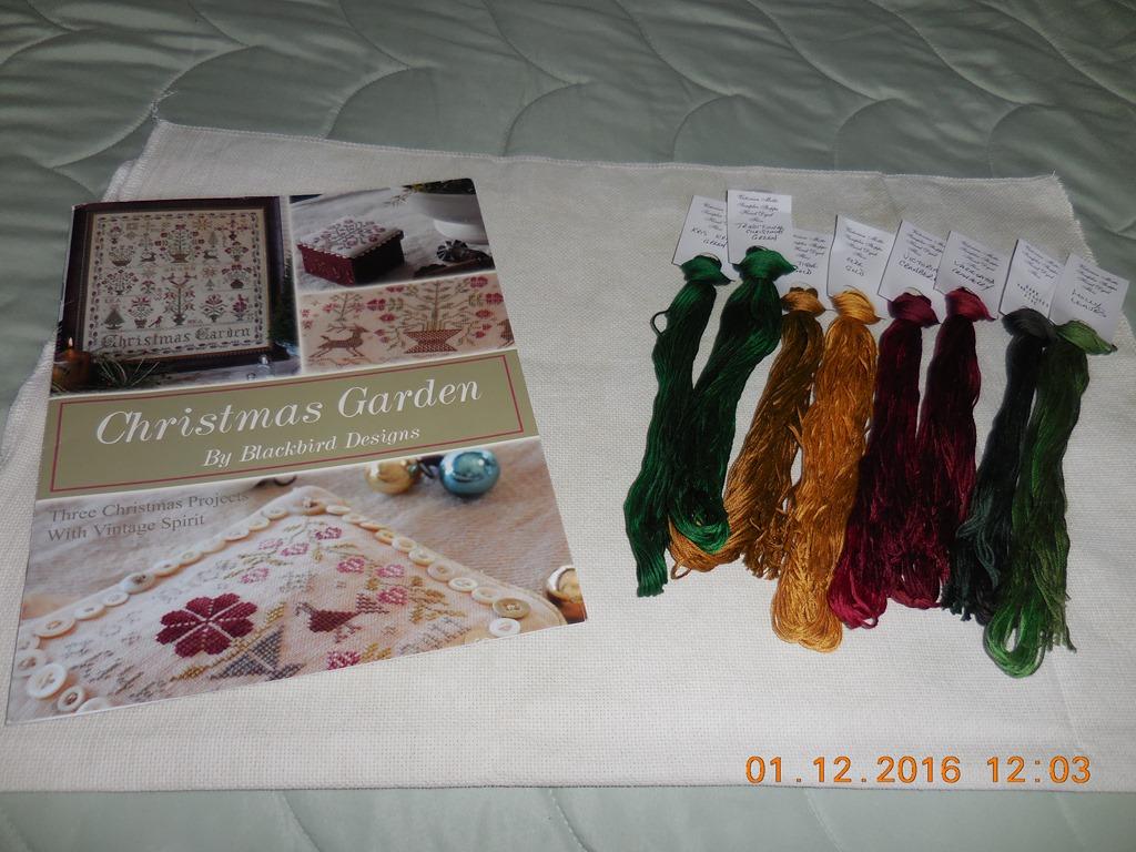 Christmas garden by blackbird designs for Garden party fabric by blackbird designs