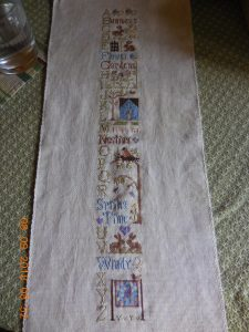 Spring ABC's by Little House Needleworks.