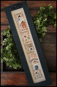 Autumn ABC's by Little House Needleworks.