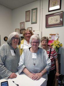 Barb Adams, Alma Allen, Ann Robbins and Pat Geary.