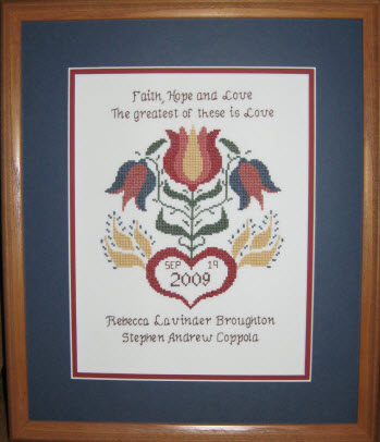 Flowering Heart Wedding Sampler