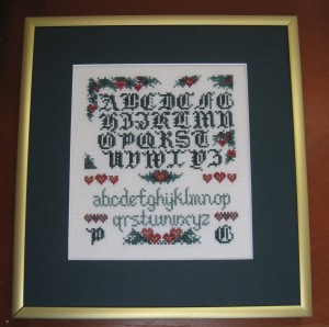 christmas-sampler-framed