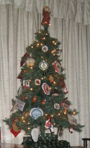 Just a few of our cross stitch ornaments