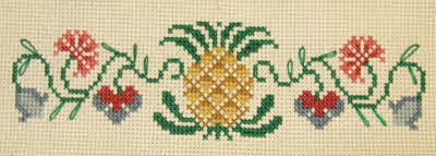 Detail on lower Pineapple Design.