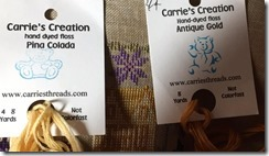 Carrie's Creations threads used to stitch the house.