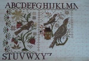 Blackbird Designs - Loose Feathers - Progress May 24 2014