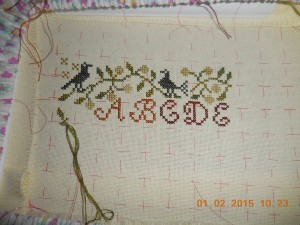 Mystery Sampler Progress  Jan 1 20154