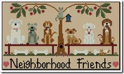 Neighborhood Friends chart by Little House Needleworks.
