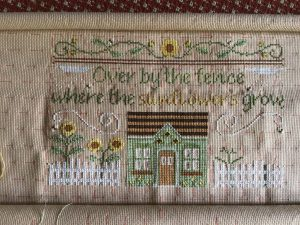 Sunflowers in Summer by Country Cottage Needleworks.