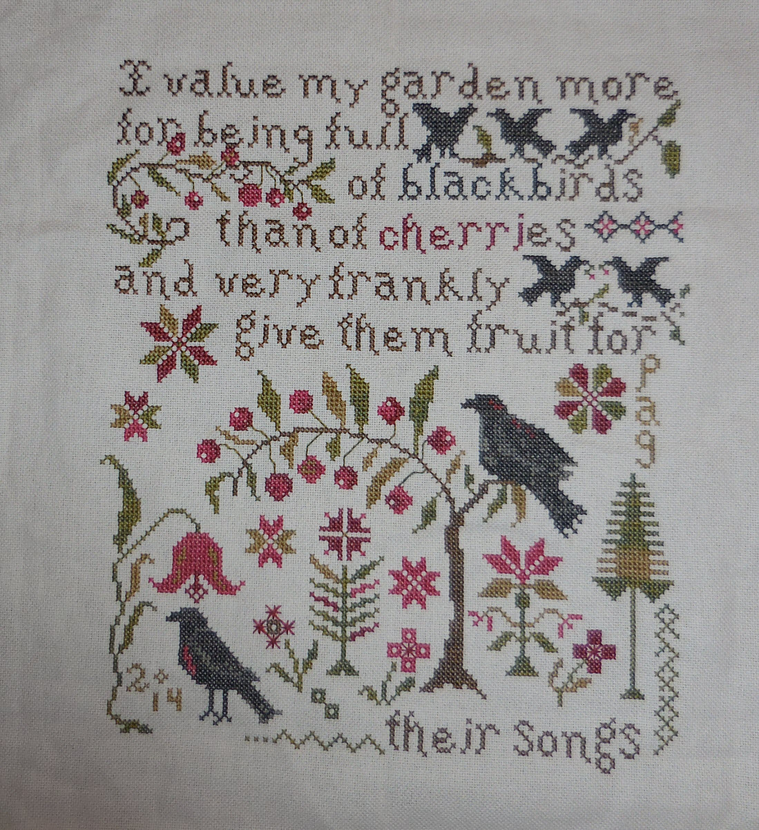 Pat 39 s cross stitch corner a place to share a craft i love for Blackbird designs english garden